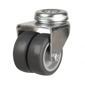 Bolt Hole 17 Series Castors With Twin Synthetic Non-Marking Wheels