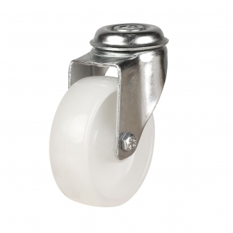 Bolt Hole 19 Series Castors With Light Duty Polypropylene Wheels
