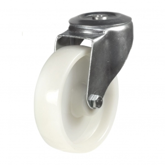 Bolt Hole 22 Series Castors With Nylon Wheels