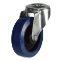 Bolt Hole 27 Series Castors With Blue Rubber Non-Marking Wheels