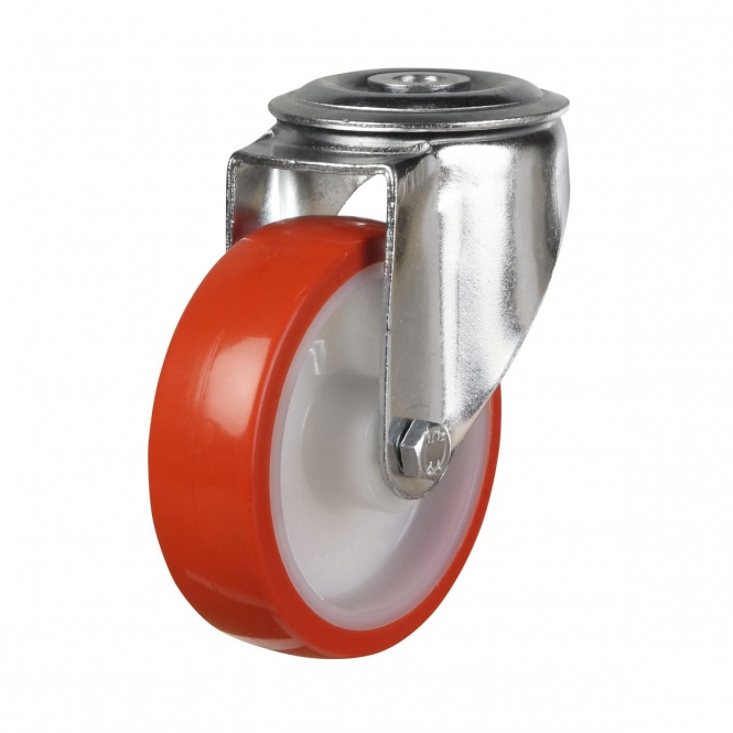 Bolt Hole 32 Series Castors With Polyurethane Wheels