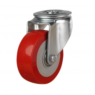 Bolt Hole 50 Series Castors With Polyurethane Wheels