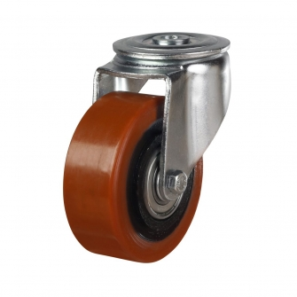 Bolt Hole 53 Series Castors With Polyurethane On Cast Iron Wheels