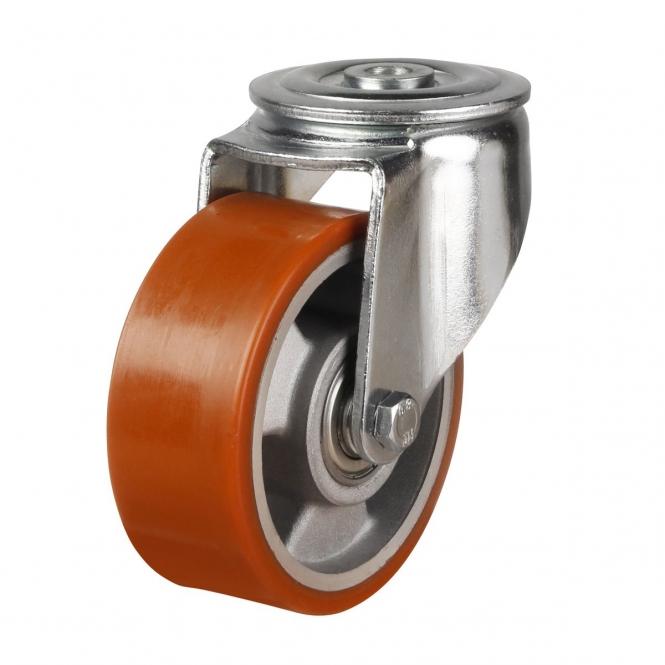 Bolt Hole 55 Series Castors With Polyurethane On Aluminium Wheels