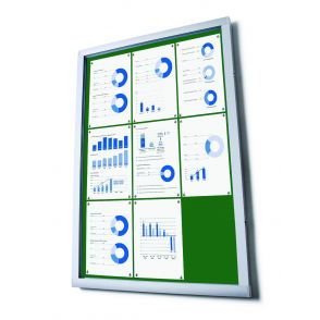 Budget Notice Boards With Green Fabric Displays