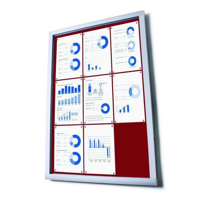 Budget Notice Boards With Red Fabric Displays