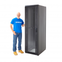 """Cannon Technologies 'Smart Net' Vented Glass Front 19"""" Server Rack Cabinets 600mm Wide"""