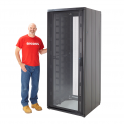 """Cannon Technologies 'Smart Net' Vented Glass Front 19"""" Server Rack Cabinets 800mm Wide"""