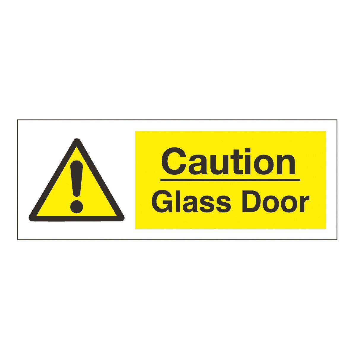 Caution Glass Door Safety Sign Hazard Amp Warning Sign