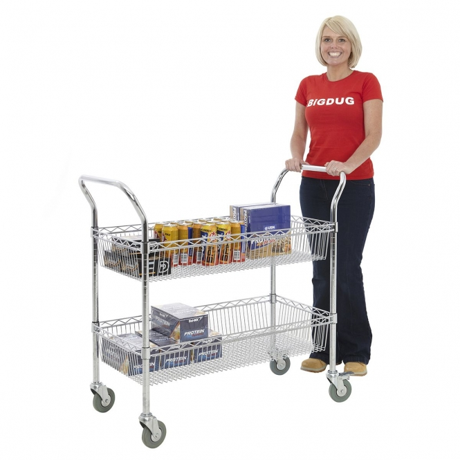 Chrome Basket Trolley