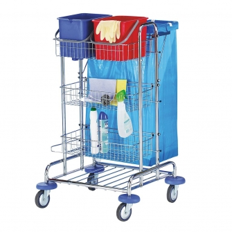 Chrome Cleaning Trolleys