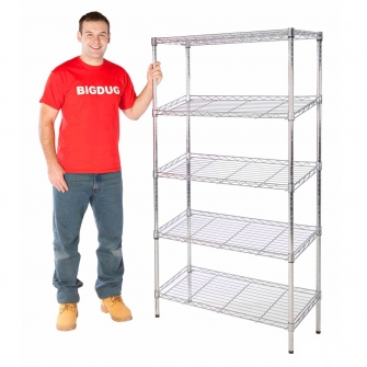 Chrome Slanted Shelving