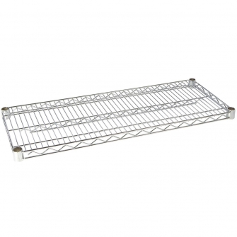 Chrome Wire Shelf Level 460 X 460mm 300kg UDL With Clips