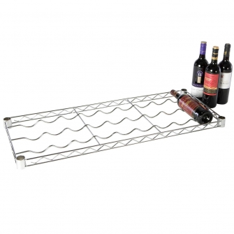 Chrome Wire Wine Level 915w x 355d mm