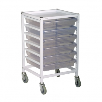 Classic Single Column Trolleys With 6 Trays
