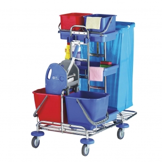 Cleaning Trolleys With Mop Unit - Large