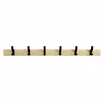 Coat Rails With Black Hooks