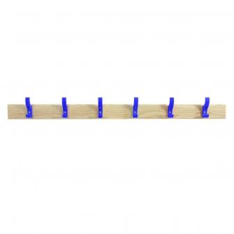 Coat Rails With Blue Hooks