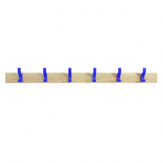 Coat Rails With Blue Hooks