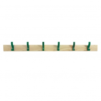Coat Rails With Green Hooks