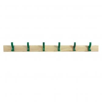 Coat Rails With Green Hooks