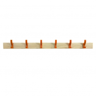 Coat Rails With Orange Hooks