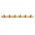 Coat Rails With Orange Hooks