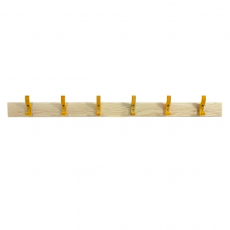 Coat Rails With Yellow Hooks