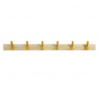 Coat Rails With Yellow Hooks