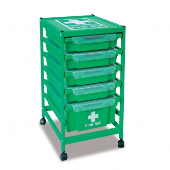 Compact Single Column First Aid Trolleys