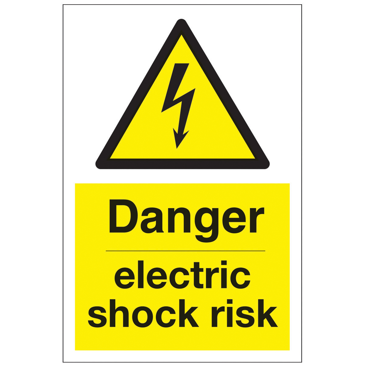 Danger Electric Shock Risk Safety Signs - Hazard & Warning ...