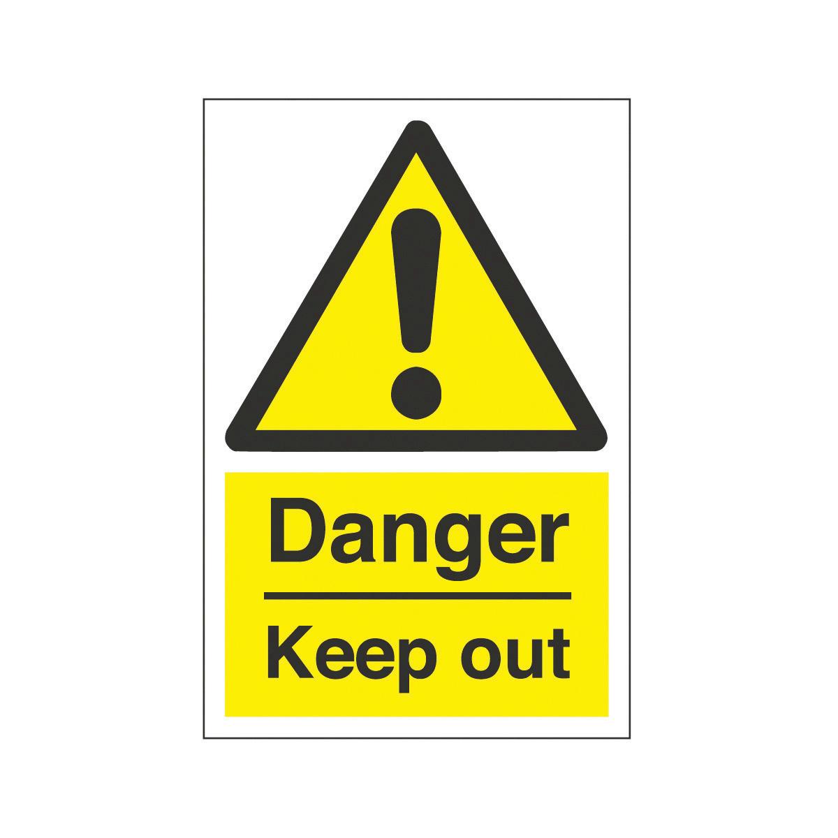 Danger Keep Out Safety Signs From Bigdug Hazard