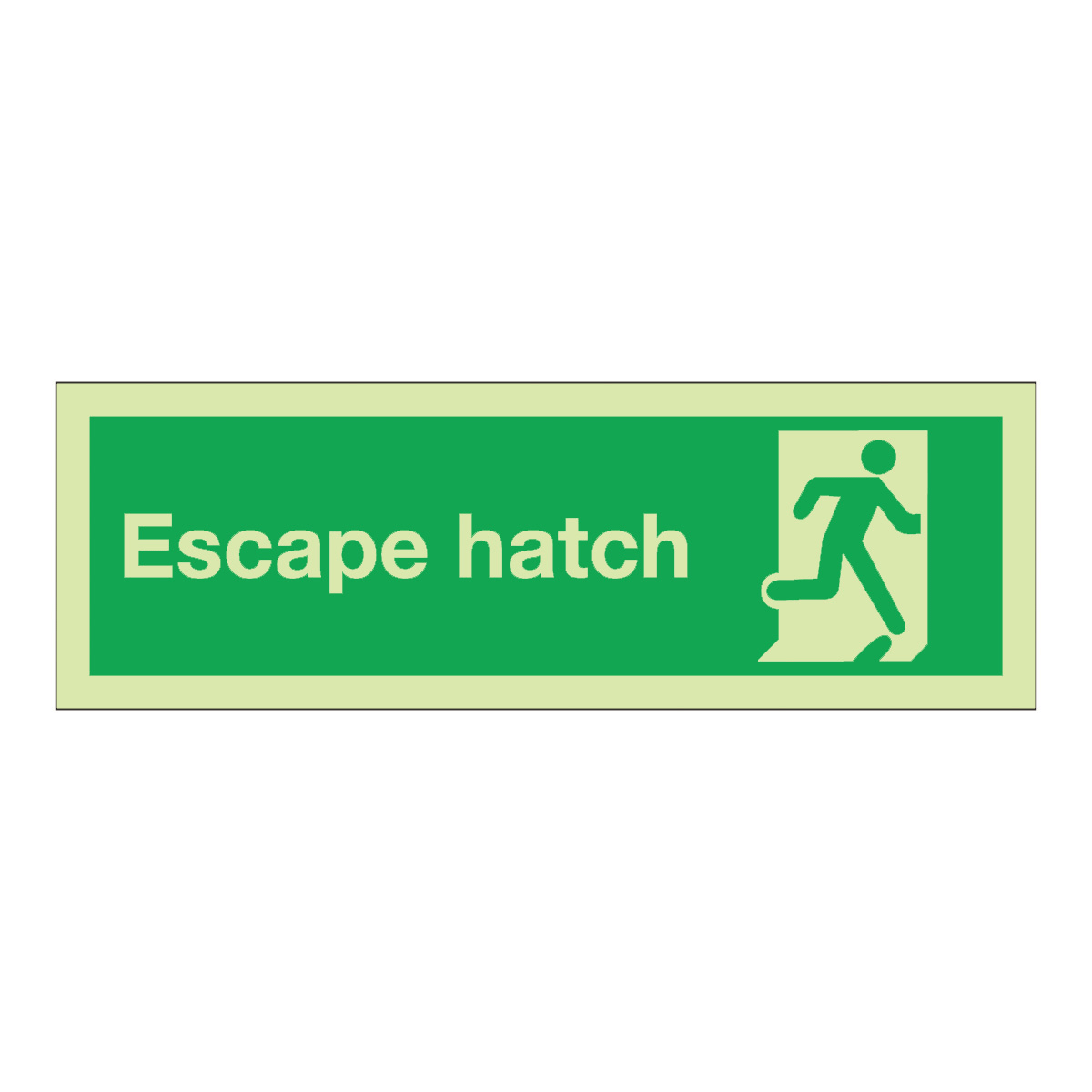 Escape Hatch Safety Sign Photoluminescent Safety Sign