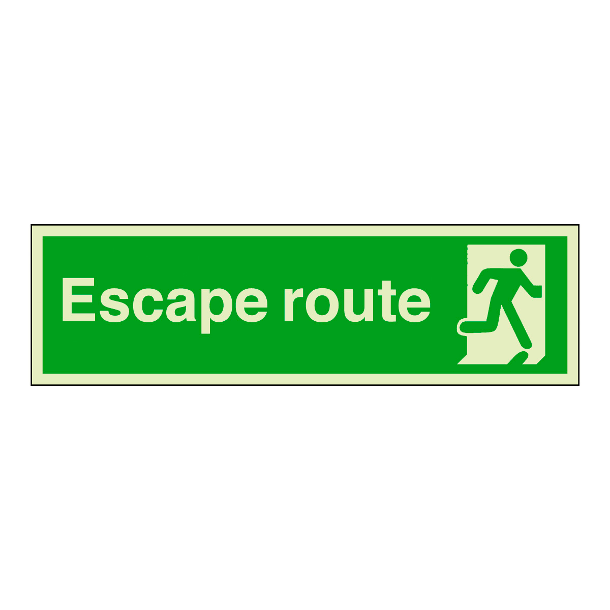 Escape Route Safety Sign Photoluminescent Safety Sign