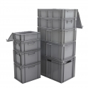 Euro Stacking Containers With Integral Lid