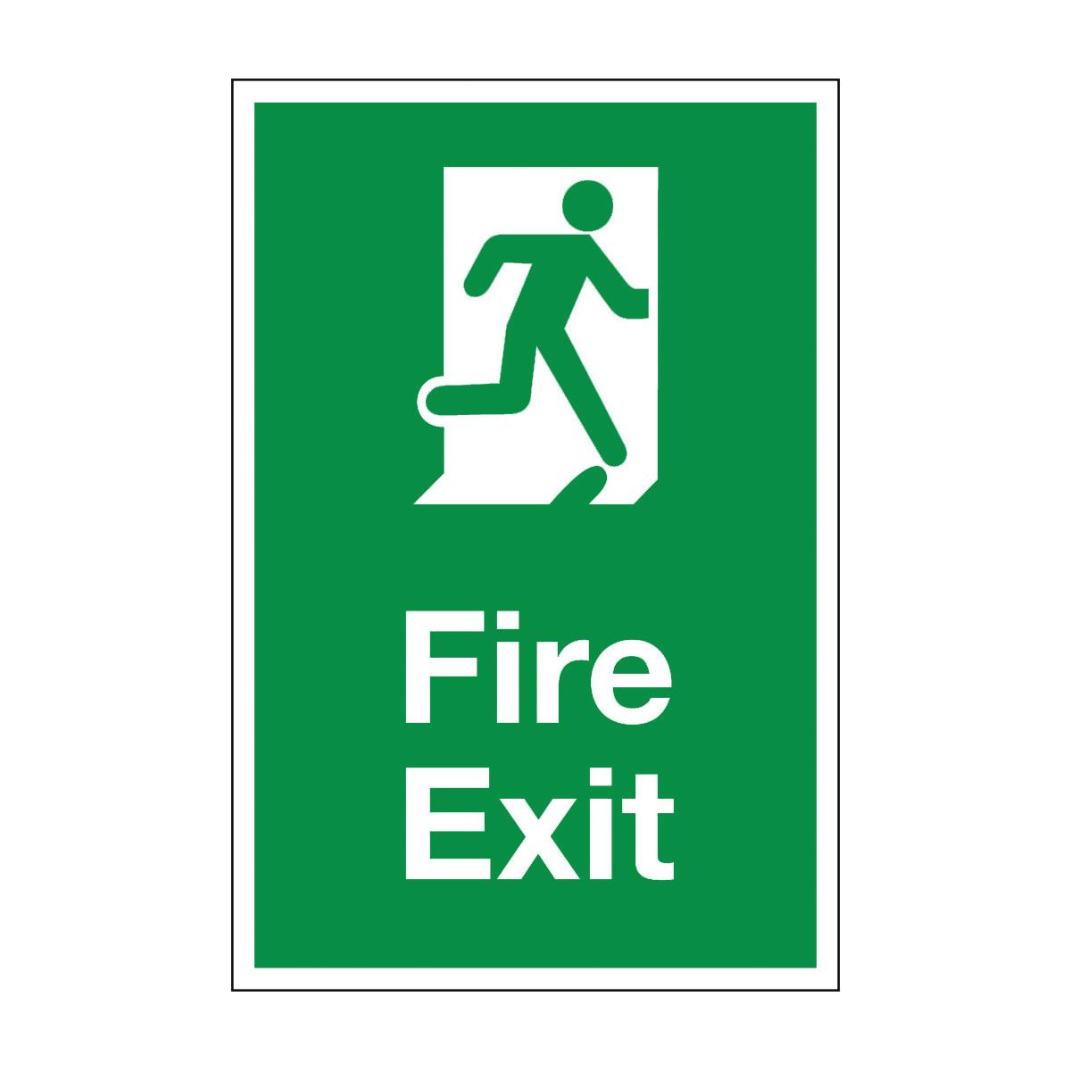 Fire exit floor sign floor sign from bigdug uk for Floor banner