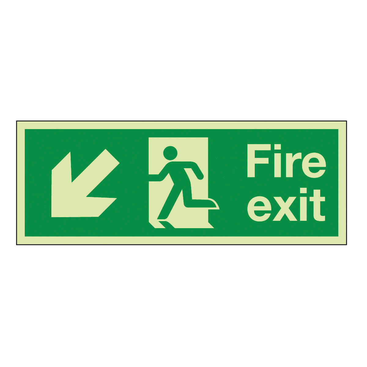 Fire Exit Running Man Right Arrow Diagonal Down Left