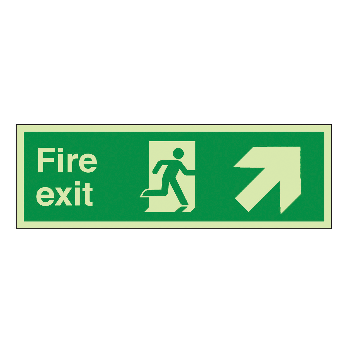 Fire Exit Running Man Right Arrow Diagonal Up Right Safety
