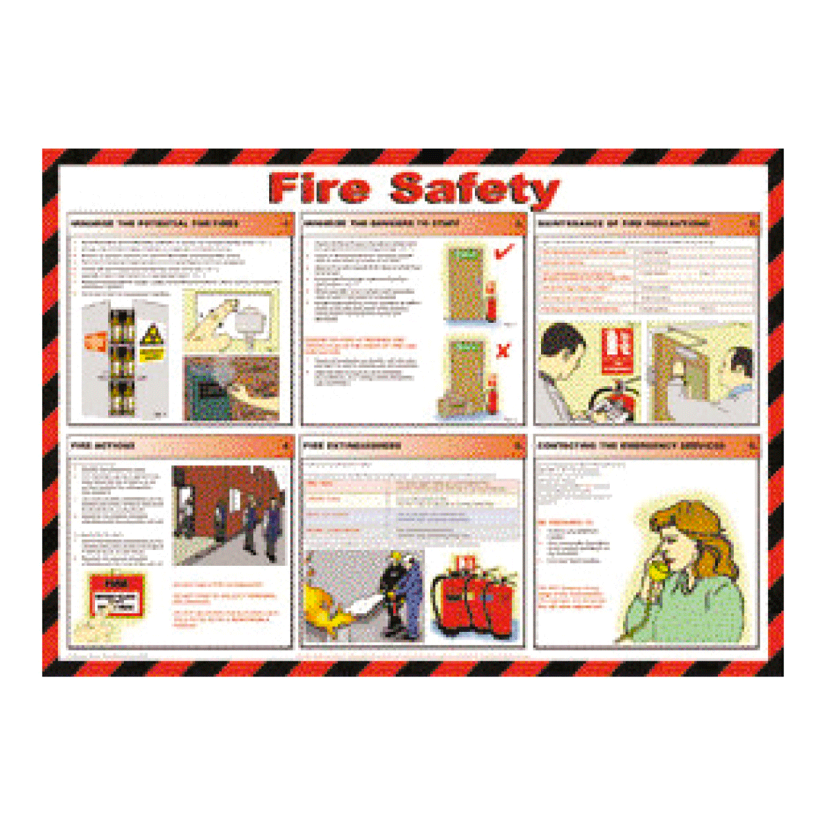 Fire Safety Poster First Aid Poster From Bigdug Uk