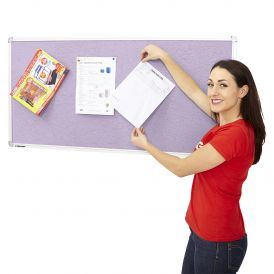 Flame Retardant Notice Board 1200 x 2400mm Aluminium Framed