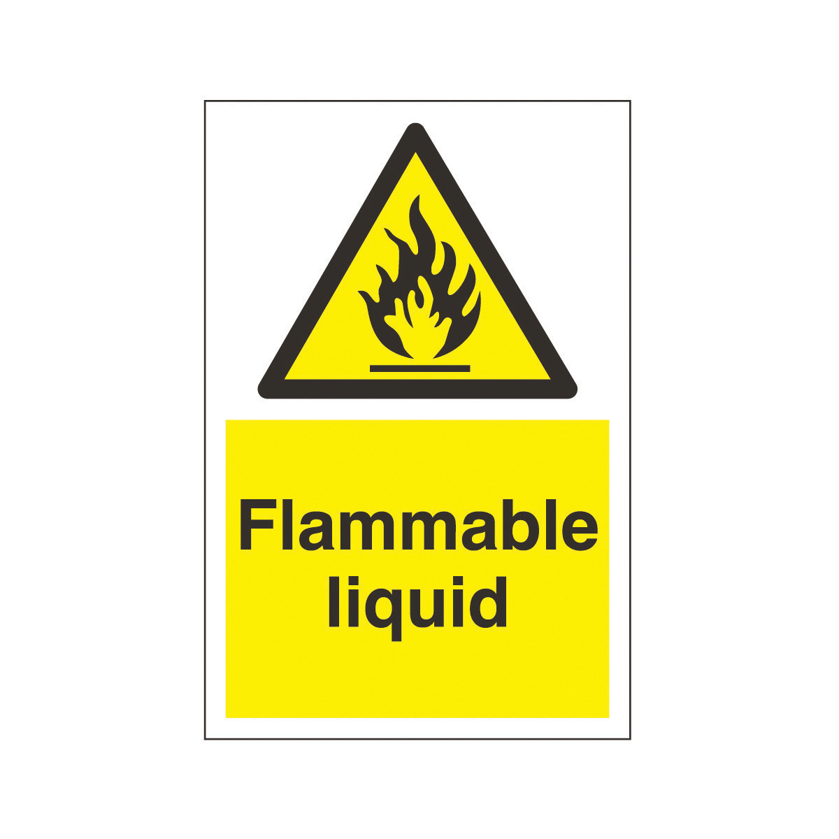 Flammable Liquid Safety Sign Hazard Amp Warning Sign From