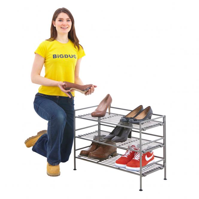 Folding Steel Shoe Rack