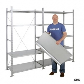 Galvanised HD Extra Shelf 1207w x 500d mm 235kg Capacity
