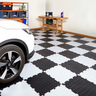 Garage & Light Industrial Interlocking Vinyl Floor Tiles