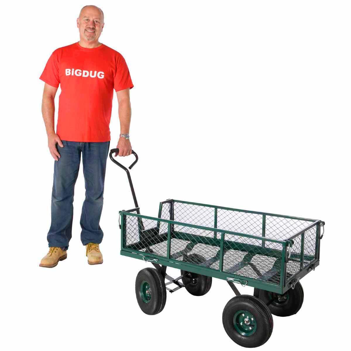 Garden Cart Trolley 300kg Wheelbarrows Garden