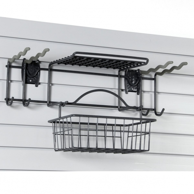 Garden Tool Rack For Slatwall Or Wire Mesh Panels