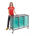 Gratnells Triple Column Trolleys With 12 Shallow & 3 Deep Trays