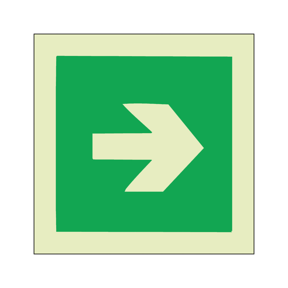 Green Arrow Safety Sign Photoluminescent Imo Sign From