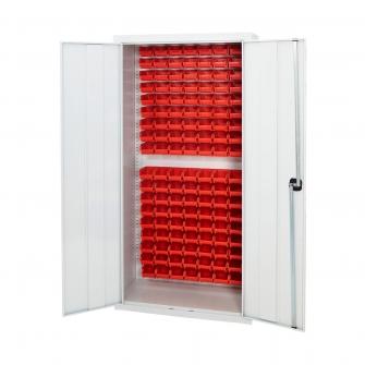 Grey Pick Bin Cupboard With Grey Doors