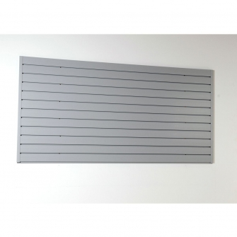 Grey Slatwall Panel Set 915mm High X 1830mm Wide With 2 Edging Strips